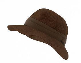 Brown Felt Hat 3D model