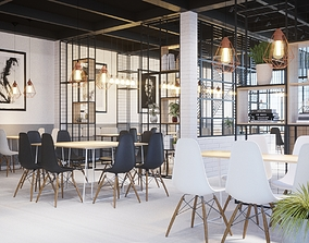 The coffee house design 3D
