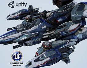 Falcon Spaceship - game model 3D asset