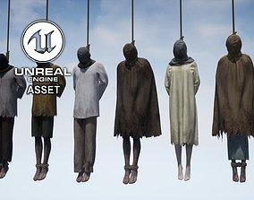 3D asset rigged Hanged
