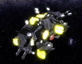 3D asset game-ready Kings - Interceptor Ship - Updated