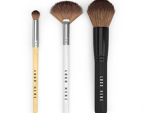 Make Up Brush Set 3D model woman