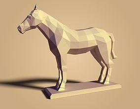 Low Poly Cartoon Horse 3D asset