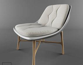 ag 3D model Bordeaux white chair