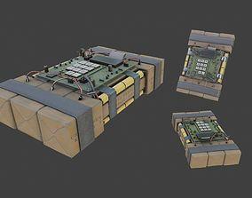 3D model Improvised Detonation Charge C4