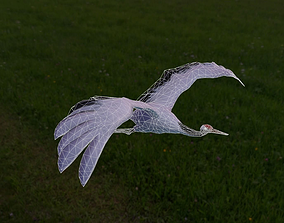 3D model bird rig and flying loop motion