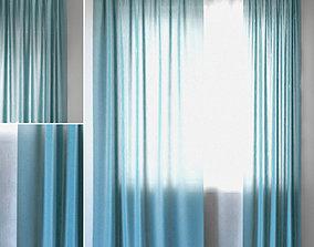 Curtains 95 EMILY VOILE Aegean Blue 3D