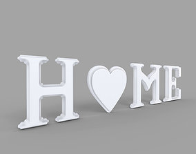 Decor Object - Home Text 3D model