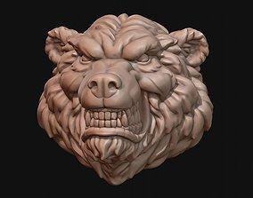3D print model stylized Bear Head