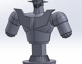 mazinger z bust japan anime super 3D printable model