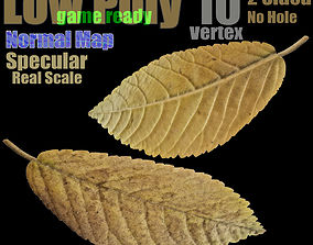 game-ready Fallen Leaf - Game-Ready 3D Model