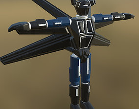 3D asset VR / AR ready Robot 01 Not Rigged PBR