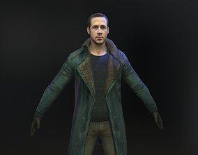Ryan Gosling 3d model from Blade Runner realtime