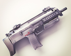 3D model MP7 Submachine gun Hi-Res