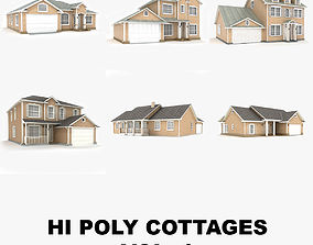 Hi-poly cottages collection vol 1 3D