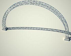 3D Metallic structure truss 05 Arc