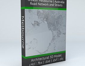 Greater Melbourne Road Network and Streets 3D model
