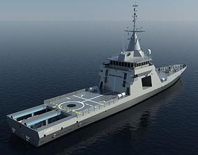 3D model Offshore Patrol vessel Gowind