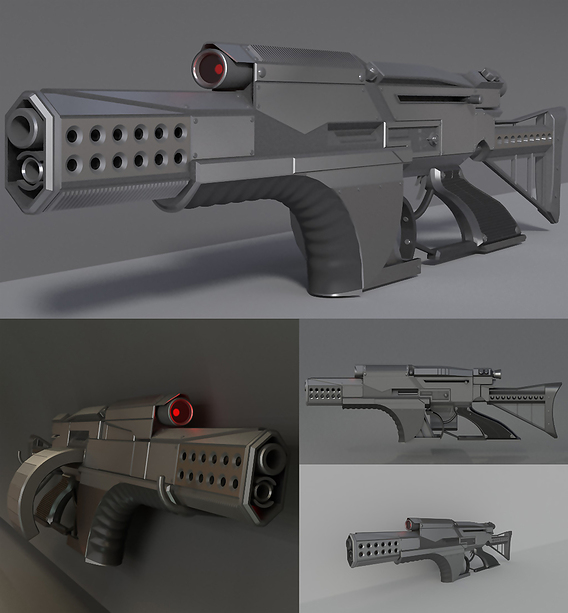 Futuristic weapon concept