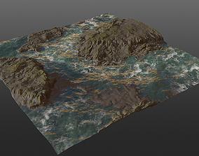 Cliff Seaside PBR 3D