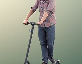 11311 David - Man riding scooter with casual 3D model