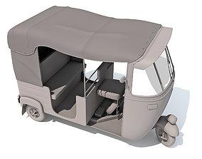 3D model Indian Taxi Rickshaw