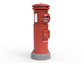 3D model Japanese Post Box