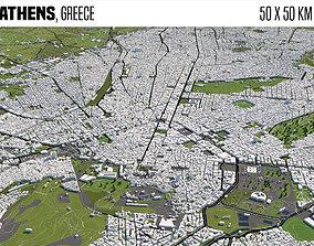 3D model Athens Greece 50x50km