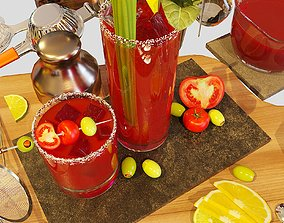 Cocktail Set Bloody Mary 3D