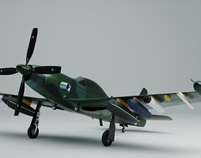 3D model Piper PA-48 Enforcer - The Badass Mustang -
