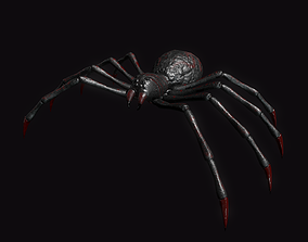 Spider 3D asset game-ready