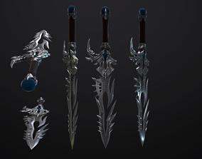 3D asset Dagger Angel Slayer