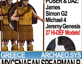 3D model Greek Mycenaean Spearman B Props Poser Daz