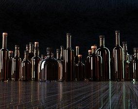 3D model Liquor Glass Bottles