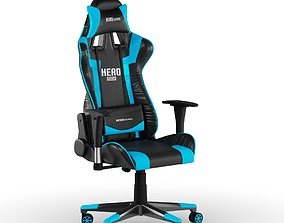 3D games PC Gamer Chair Blue Hero