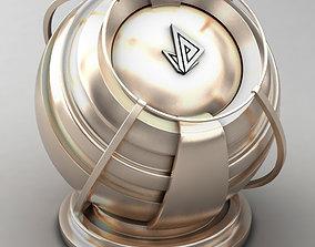 3D model VRAY SHADER---METAL---Electrum 50