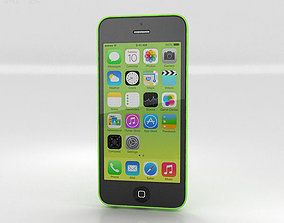 3D Apple iPhone 5C Green