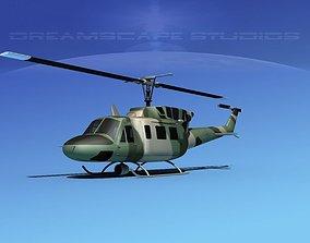 3D Bell UH-1N Army Forest Gunship