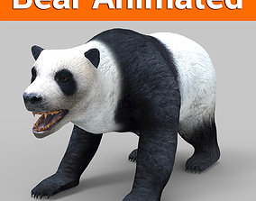 White Bear Rigged and animated 3D Model animated