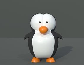 Cartoon Penguin 3D asset