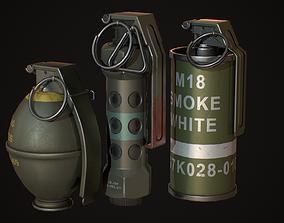3D asset Smoke Flash Grenade