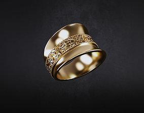 jewellery 3D printable model ring pattern