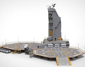 sci-fi Helipad 3D