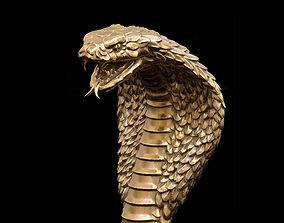 Cobra head Handle for walking 3D print model