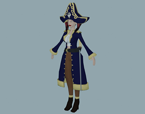 Pirate Character low-poly 3D