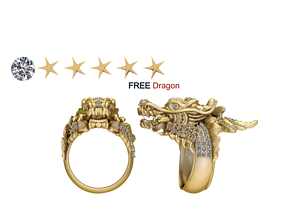 FREE Dragon RING 3D printable model
