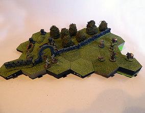 Hexagonille Terrain - Hills 3D print model