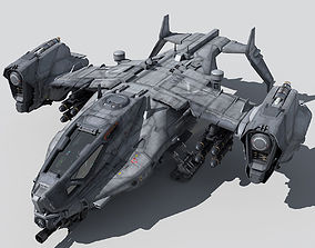 3D dropship SF Heavy Military Dropship
