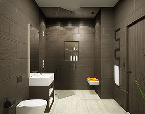 3D model bidet interior-design Bathroom