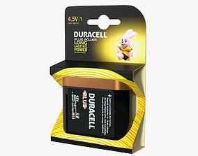 Duracell Plus Power Battery Alkaline 4-5 Volt 3D model 1